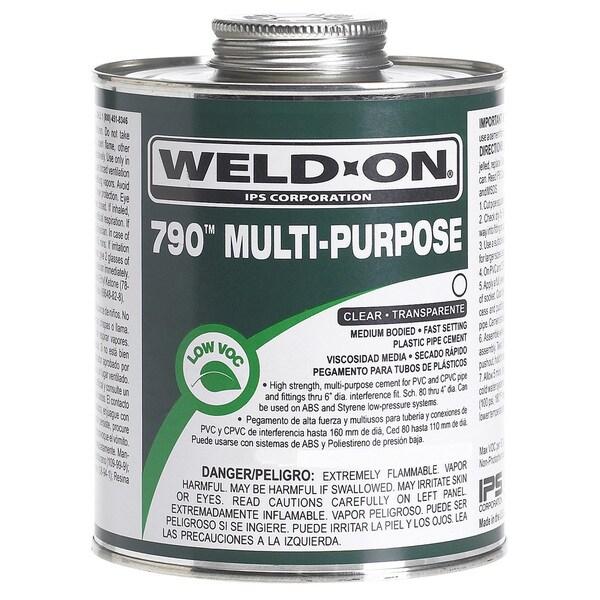 Ips Weldon 10258 1 Pint Clear 790 Multi-Purpose Cement