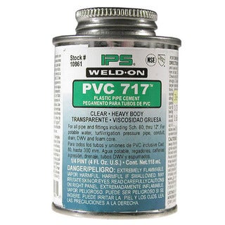 Ips Weldon 10861 Weld-On 717 PVC Solvent Cement Clear