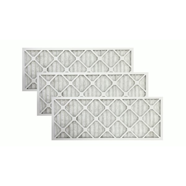 3 Merv 11 Allergen Air 12-inch x 30-inch x 1-inch Furnace Filters 20223559