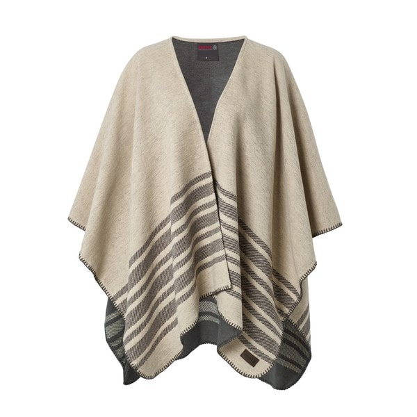 Pure Cotton Twill Striped Blanket Poncho