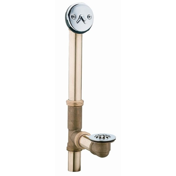 Moen 90410 Brass & Chrome Bath Overflow & Waste Assembly