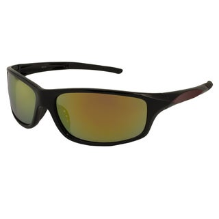 UrbanSpecs LR99149-RED Sport Green with Yellow Mirror Sunglasses