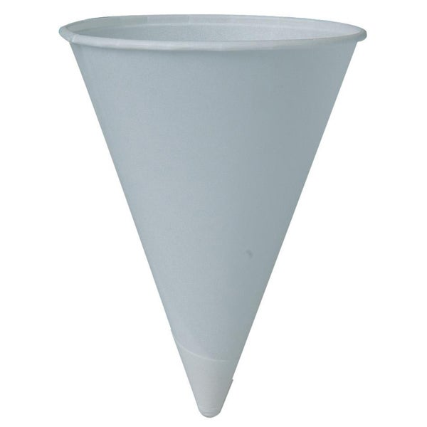 Solo 4R2050 4 Oz White Cone Paper Cups 200-count 20223859