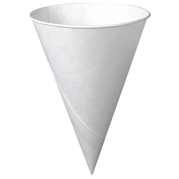 Solo 6R-2050 6 Oz White Cone Paper Cups 200-count 20223860