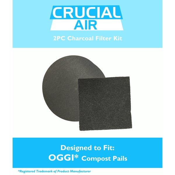 Crucial Air Charcoal Filter for OGGI Compost Pail Kit (Pack of 2)