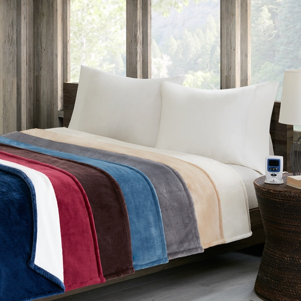 Woolrich Plush to Berber Heated Blanket 7-Color Options 20224094