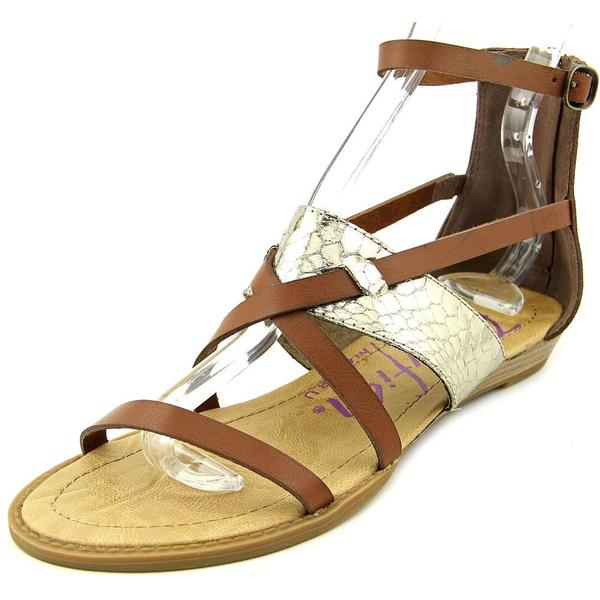 Blowfish Women's Badot Brown Faux-leather Sandals