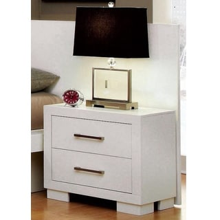 Coaster White Solid Wood/Ash 2-drawer Nightstand