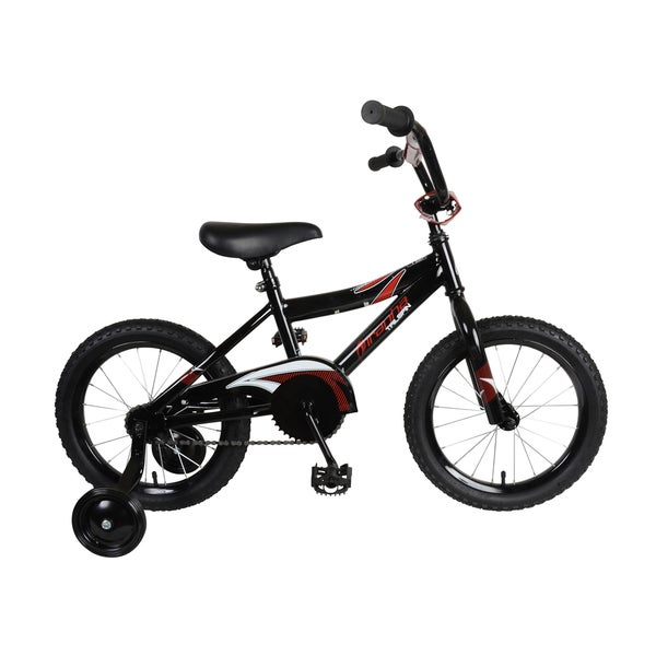 Piranha Tailspin Black 16-inch Boy's Bike