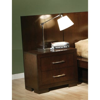Cappuccino Finish Solid Wood and Veneer Nightstand