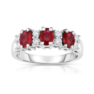 Noray Designs 14k Gold Oval Ruby and 1/4ct TDW Diamond Ring (G-H, SI1-SI2)