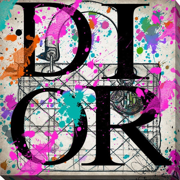 """BY Jodi """"Oh My Dior"""" Giclee Stretched Canvas Wall Art"""