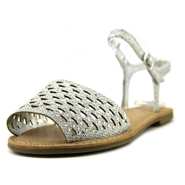 Bamboo Women's 'Bellagio-10' Silver-colored Synthetic Sandals