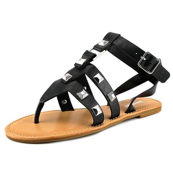 Bamboo Women's Bellagio-02 Black Synthetic Sandals