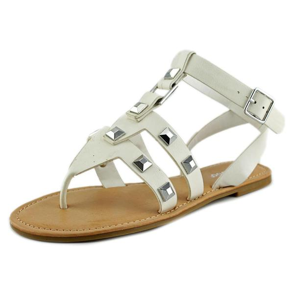 Bamboo Women's 'Bellagio-02' White Synthetic Sandals
