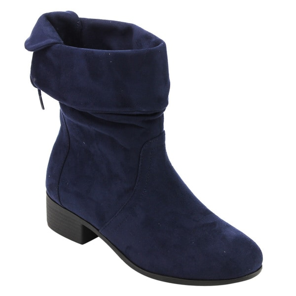 Soda Women's Faux Suede Mid-calf Slouch Boots