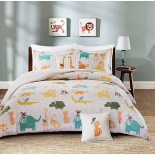 INK+IVY Kids Jacala Multi Cotton 4-piece Duvet Cover Set