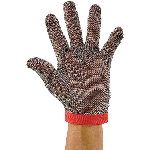 Winco Reversible Medium-size Red Protective Mesh Glove