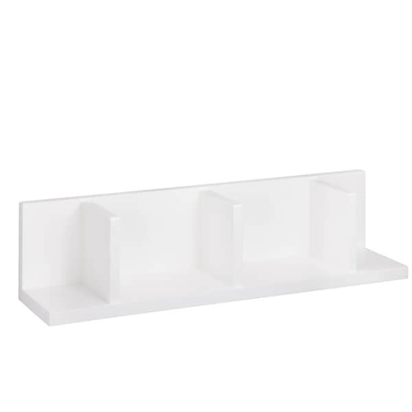 Large Sectioned Wall Shelf, White