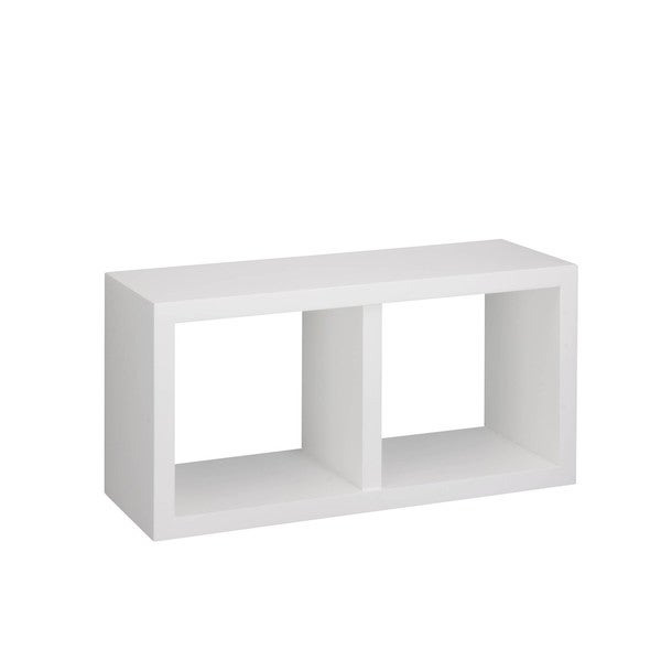 White double cube wall shelf
