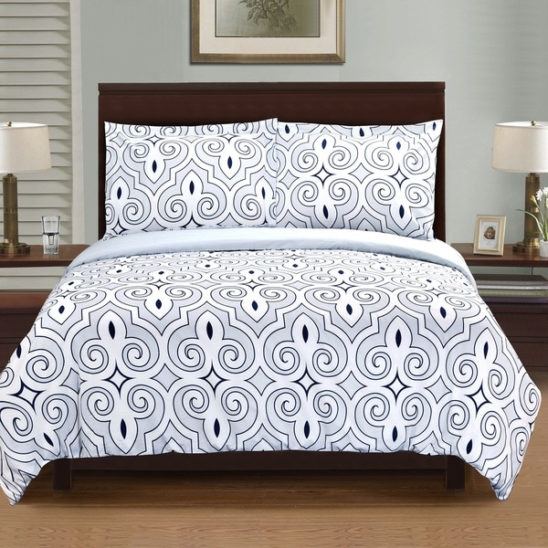 Superior Clarendon Premium Cotton Reversible Print Duvet Set