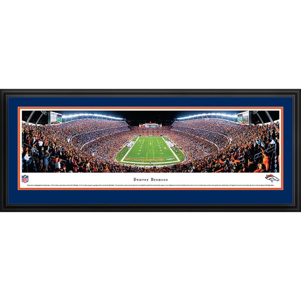 Blakeway Panoramas NFL Denver Broncos 'End Zone Night Game' Framed Print