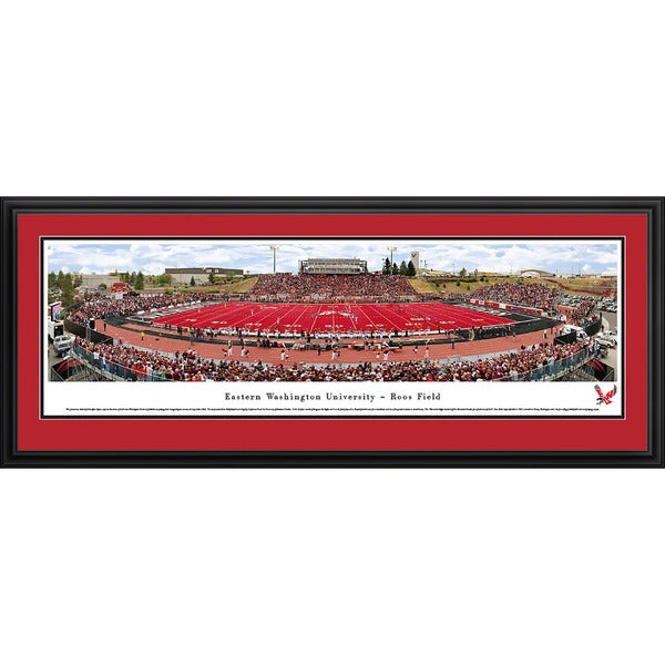 Blakeway Worldwide Panoramas Eastern Washington Eagles Football Framed Print