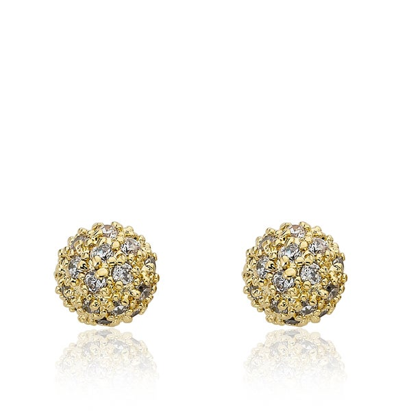 Riccova Retro 14K Gold-plated Cubic Zirconia Pave Ball Earring 20230998