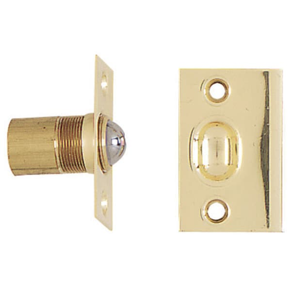 Stanley Hardware 803944 Solid Brass Adjustable Ball Cabinet Catch