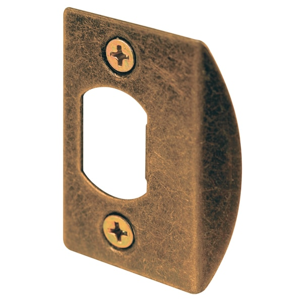 Prime Line E2233 Antique Brass Dead Latch Strike Plate