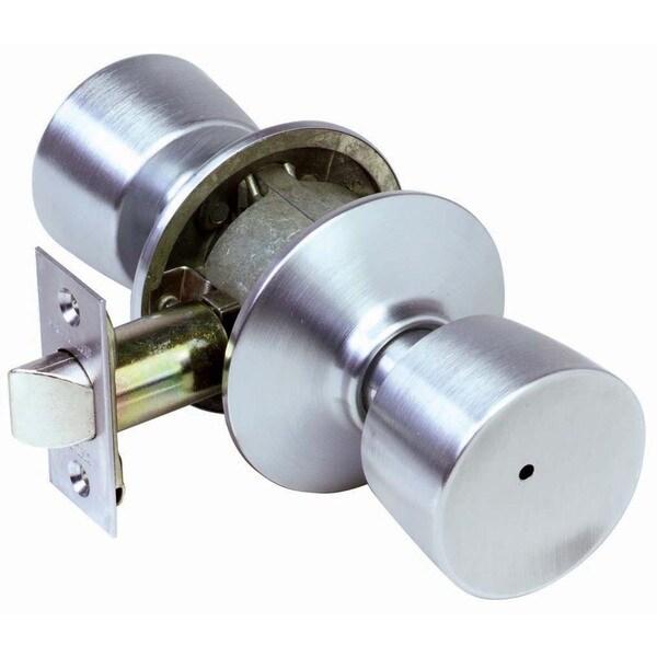Schlage F40VBEL626 Satin Chrome Bell Knob Privacy Set