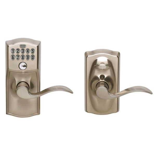 Schlage FE595VCAM619ACC Satin Chrome Accent Entry Lever Keypad Lock