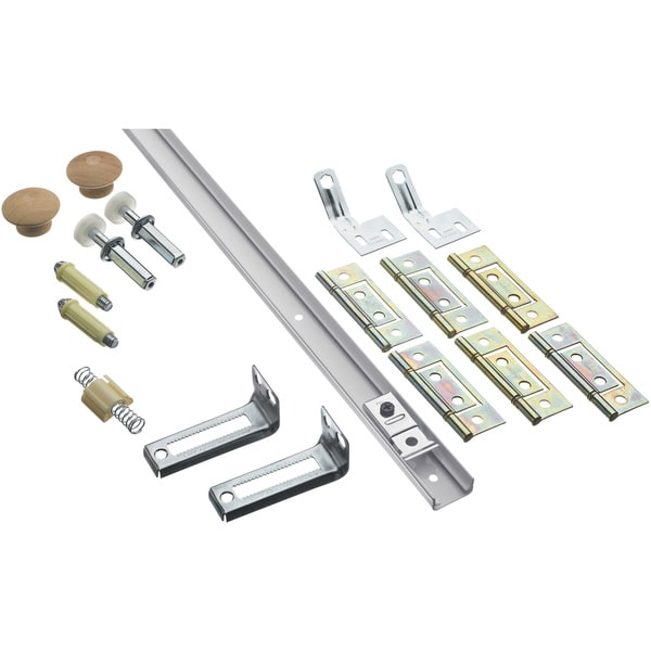 Stanley Hardware 402054 5' White Bi-Fold Door Hardware Sets