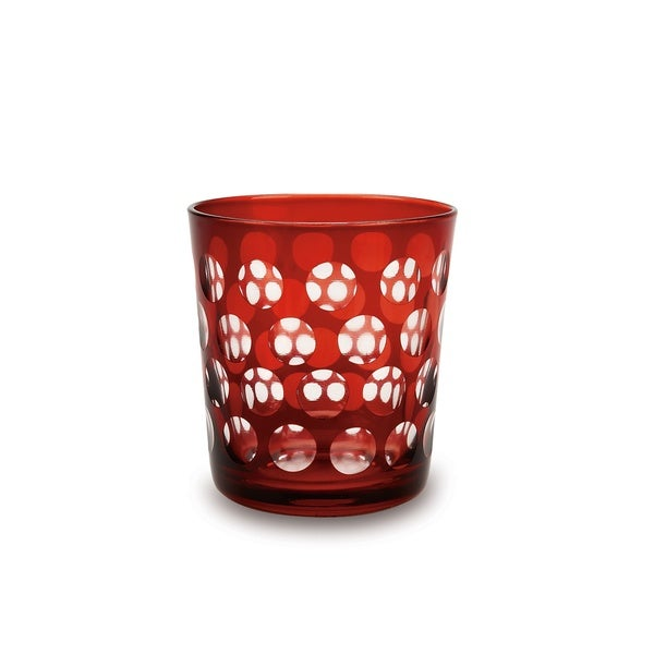 Melrose Rocks Ruby Lowball Glass