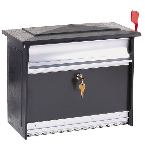 Solar Group MSK0000B X-Large Black Mailsafe Lockable Security Mailbox