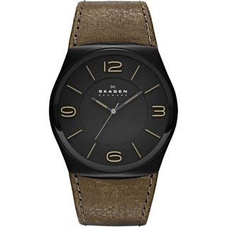 Skagen Men's SKW6042 'Havene' Brown Leather Watch