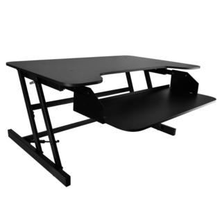 Pyle PDRIS06 Siting/Standing Desk, Quick Setup Pop-up Design Universal Computer Laptop Workstation Stand
