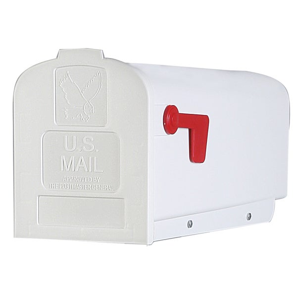 Solar Group PL10W Plastic Rural White Mailbox
