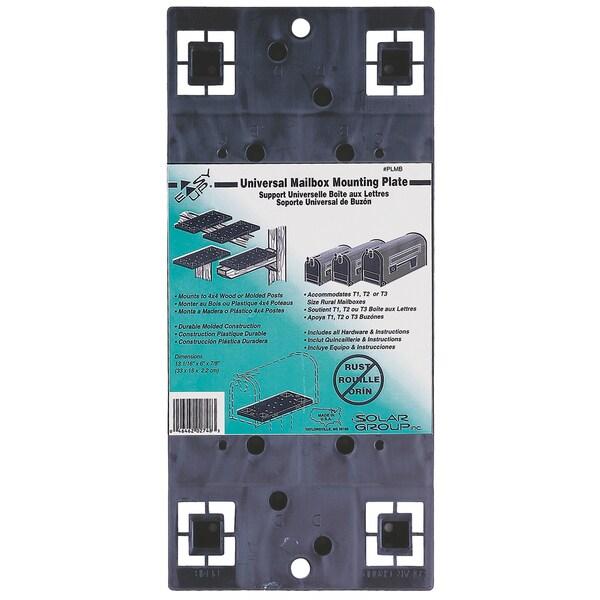 Solar Group PLMB0060 Black Universal Mailbox Mounting Board