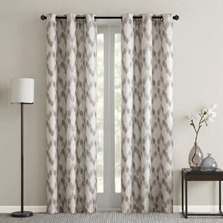 Madison Park Essentials Arlo Textured Grommet Top Curtain Panel Pair 2-Color Option