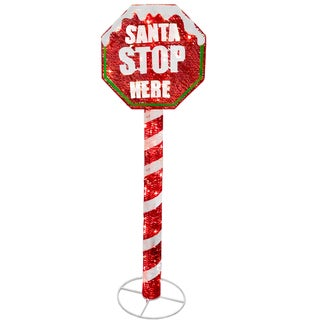 Stop Sign 60-inch Decoration with LED Lights