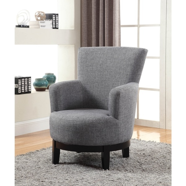 Nathaniel Home Dominic Grey Swivel Accent Chair