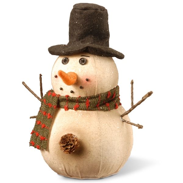 Glitter 10-inch Snowman Decoration