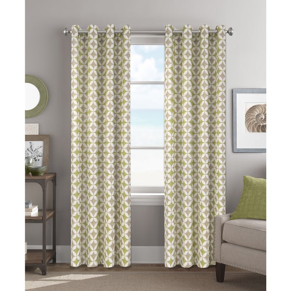 Colordrift Melinda Multicolored Polyester 84-inch Grommet-top Single Curtain Panel
