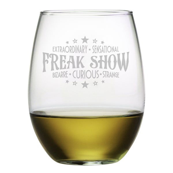 Freak Show Stemless Wine Glass (Set of 4)