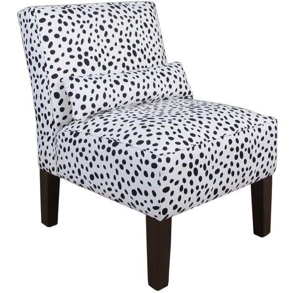 Skyline Furniture Black/White Polyurethane Armless Slipper Chair
