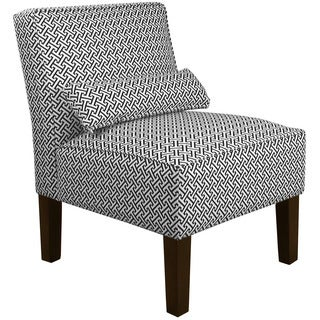 Skyline Furniture Cross-section Licorice Cotton Upholstered Solid Pine Armless Chair