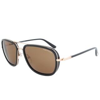 Tom Ford Riccardo Double-bridged Unisex Sunglasses FT0340 28J