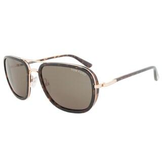 Tom Ford Riccardo Double-bridged Unisex Sunglasses FT0340 28N
