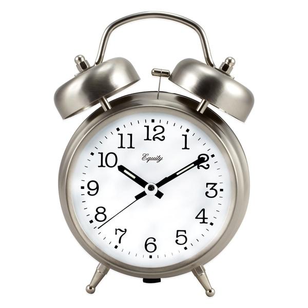 Equity by La Crosse 13017 Analog Twin Bell Quartz Alarm Clock 20234119